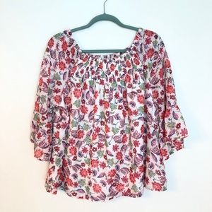 BEACH LUNCH LOUNGE FLORAL TOP L